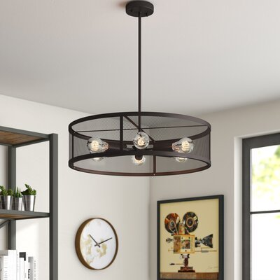 Bennett 6-Light Drum Pendant Finish: Dark Bronze