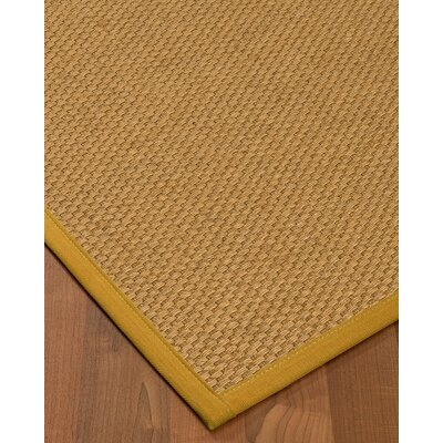 Kimpel Hand-Woven Beige Area Rug Rug Size: Rectangle 9 x 12