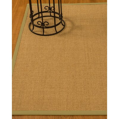Busey Hand-Woven Beige Area Rug Rug Size: Rectangle 6 x 9