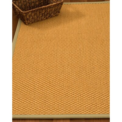 Kimes Hand-Woven Beige Area Rug Rug Size: Rectangle 4 x 6