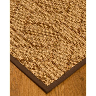 Kimberlin Hand-Woven Beige/Brown Area Rug Rug Size: Rectangle 4 x 6