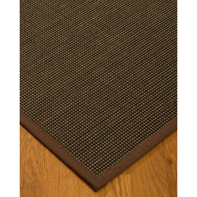 Badgley Hand-Woven Black Area Rug Rug Size: Rectangle 6 x 9