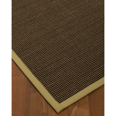 Badgley Hand-Woven Black Area Rug Rug Size: Rectangle 5 x 8