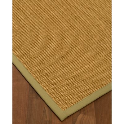 Decarlo Hand-Woven Beige Area Rug Rug Size: Rectangle 12' x 15'