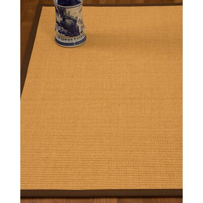 Edinger Hand-Woven Beige Area Rug Rug Size: Rectangle 4 x 6