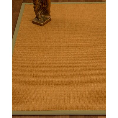Decarlo Hand-Woven Beige Area Rug Rug Size: Rectangle 4 x 6