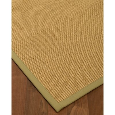 Halterman Hand-Woven Beige Area Rug Rug Size: Rectangle 6' x 9'