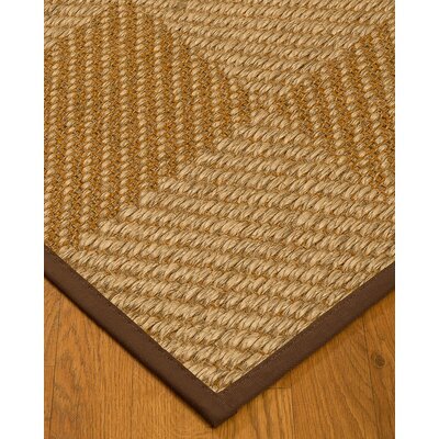 Kimsey Hand-Woven Brown/Beige Area Rug Rug Size: Rectangle 4 x 6