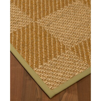 Kimsey Hand-Woven Brown/Beige Area Rug Rug Size: Rectangle 9 x 12