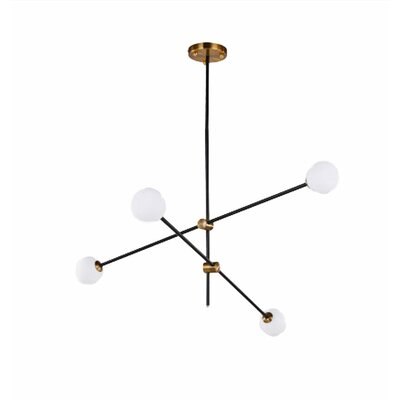 Darin 4-Light Sputnik Chandelier