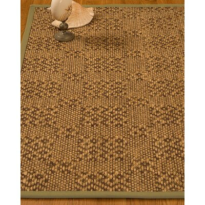 Bischoffs Hand-Woven Brown Area Rug Rug Size: Runner 25 x 8