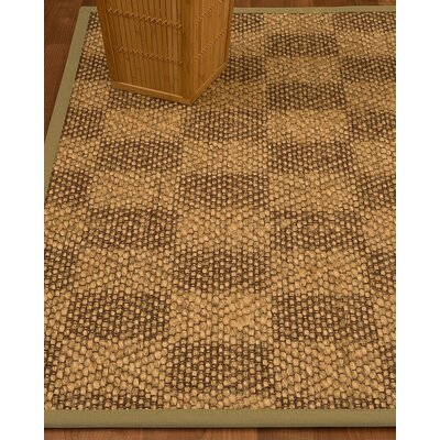 Badley Hand-Woven Brown/Beige Area Rug Rug Size: Rectangle 4 x 6