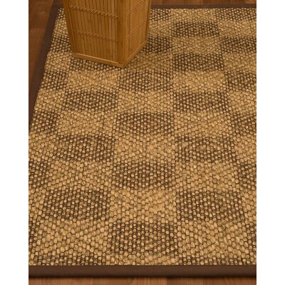Badley Hand-Woven Beige/Brown Area Rug Rug Size: Rectangle 6 x 9