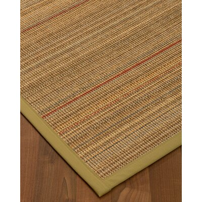 Kimble Hand-Woven Beige Area Rug Rug Size: Rectangle 9 x 12