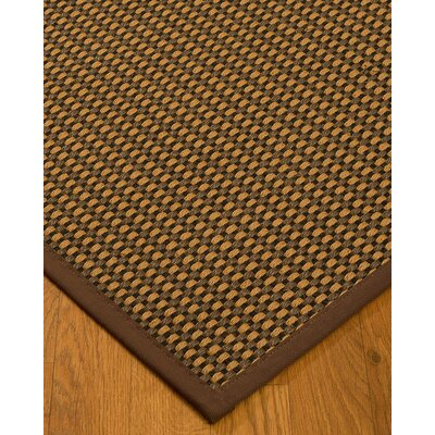 Kimbrel Hand-Woven Brown Area Rug Rug Size: Rectangle 2 x 3