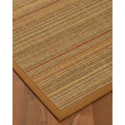 Kimble Hand-Woven Beige Area Rug Rug Size: Rectangle 3 x 5