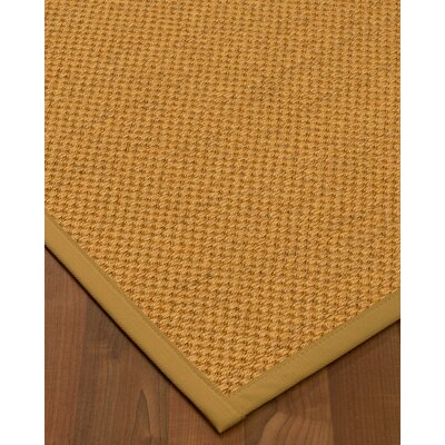 Halter Hand-Woven Beige Area Rug Rug Size: Rectangle 8 x 10