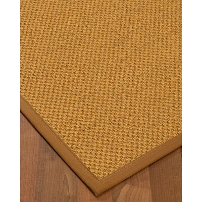 Halter Hand-Woven Beige Area Rug Rug Size: Rectangle 4 x 6