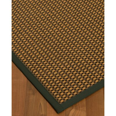 Kimbrel Hand-Woven Brown Area Rug Rug Size: Rectangle 4 x 6