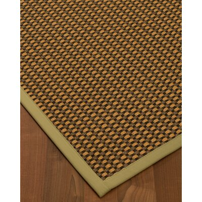 Kimbrel Hand-Woven Brown Area Rug Rug Size: Rectangle 2' x 3'