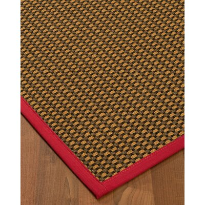 Kimbrel Hand-Woven Brown Area Rug Rug Size: Rectangle 9 x 12