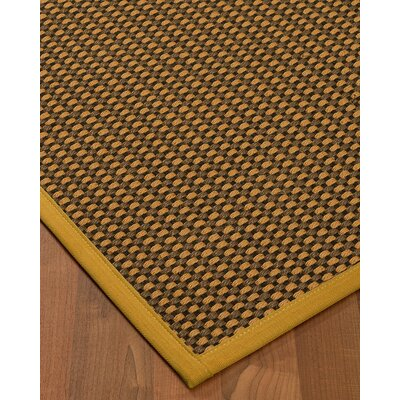 Kimbrel Hand-Woven Brown Area Rug Rug Size: Rectangle 4' x 6'