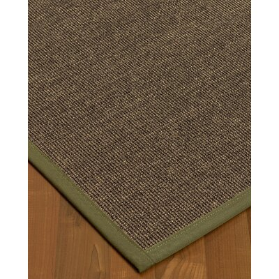 Bafford Hand-Woven Black Area Rug Rug Size: Rectangle 5 x 8