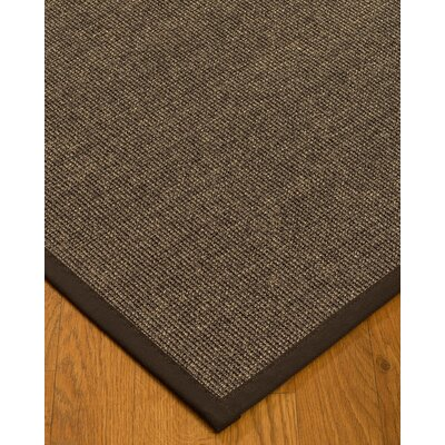 Bafford Hand-Woven Black Area Rug Rug Size: Rectangle 2' x 3'