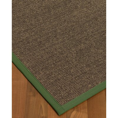 Bafford Hand-Woven Black Area Rug Rug Size: Rectangle 12 x 15