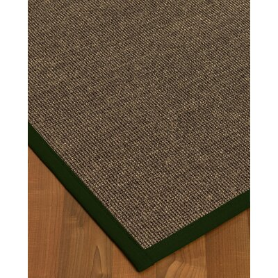 Bafford Hand-Woven Black Area Rug Rug Size: Rectangle 3 x 5