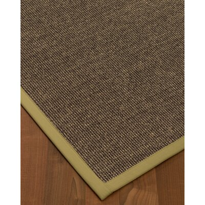 Bafford Hand-Woven Black Area Rug Rug Size: Rectangle 2 x 3