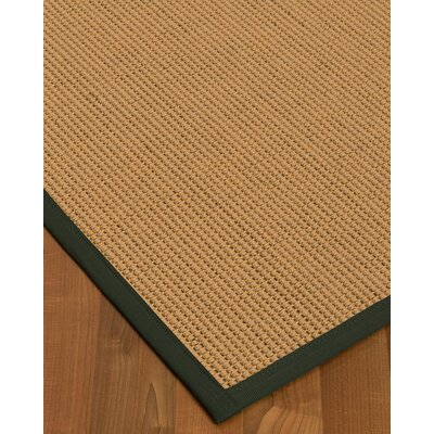 Badham Hand-Woven Wool Beige Area Rug Rug Size: Rectangle 4 x 6