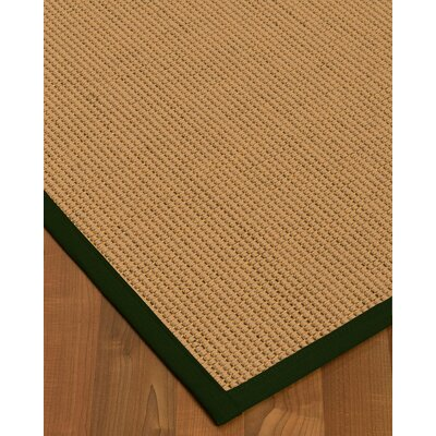 Badham Hand-Woven Wool Beige Area Rug Rug Size: Rectangle 5 x 8