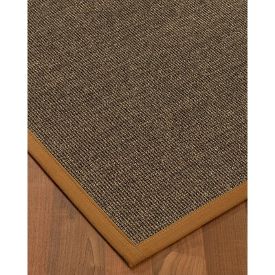 Bafford Hand-Woven Black Area Rug Rug Size: Rectangle 9 x 12