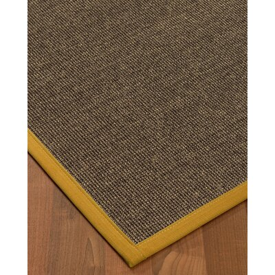 Bafford Hand-Woven Black Area Rug Rug Size: Rectangle 4 x 6