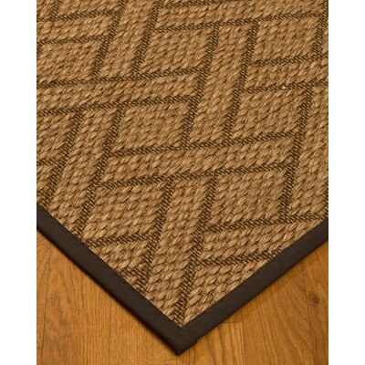 Kimbro Hand-Woven Beige/Fudge Area Rug Rug Size: Rectangle 6 x 9