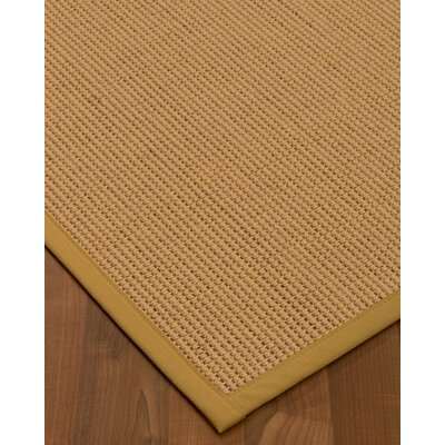 Badham Hand-Woven Wool Beige Area Rug Rug Size: Rectangle 6 x 9