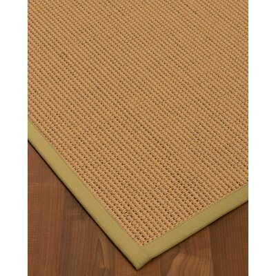 Badham Hand-Woven Wool Beige Area Rug Rug Size: Rectangle 5' x 8'