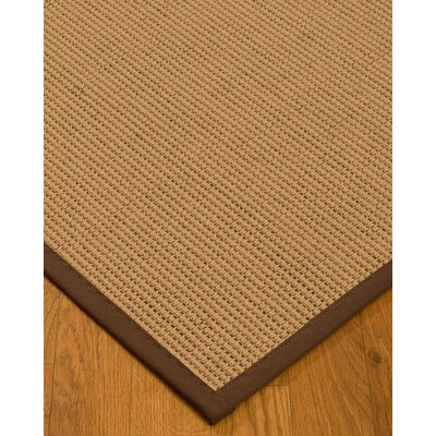 Badham Hand-Woven Wool Beige Area Rug Rug Size: Rectangle 8 x 10