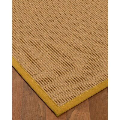 Badham Hand-Woven Wool Beige Area Rug Rug Size: Rectangle 9 x 12