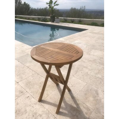 Purchase Chatham Square Round Folding Teak Bistro Table - Image - 690