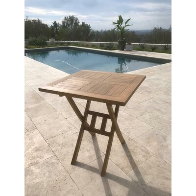 Purchase Chatham Square Folding Teak Bistro Table - Image - 690