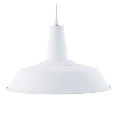 Sydney 1-Light Inverted Pendant Color: White
