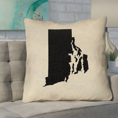 Sherilyn Rhode Island Outdoor Throw Pillow Size: 16 x 16, Color: Black