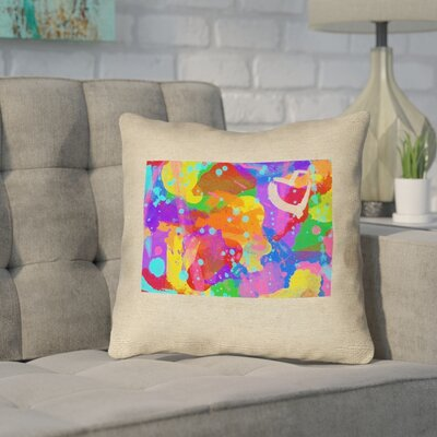 Sherilyn Wyoming Love Watercolor Throw Pillow Size: 16 x 16