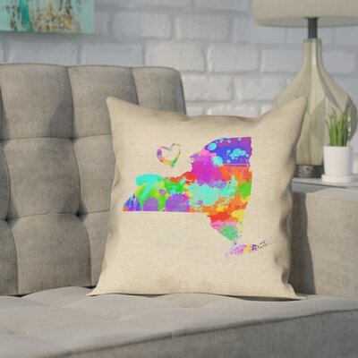 Austrinus New York Love Watercolor Pillow