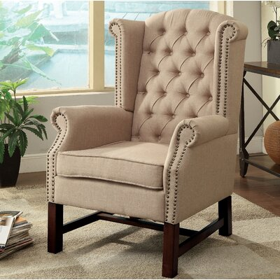 McKew Wingback Chair Upholstery: Beige