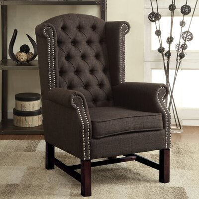 McKew Wingback Chair Upholstery: Gray