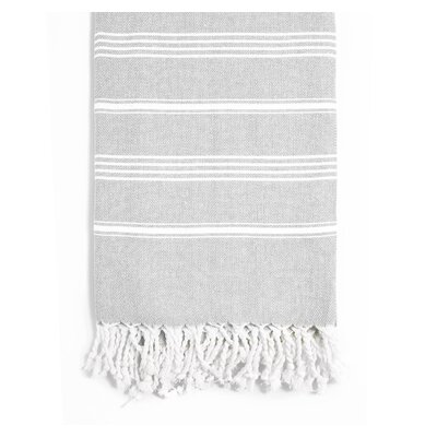Rowsey Classic Woven Traditional Peshtemal Bath Towel Color: Gray