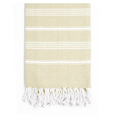 Rowsey Classic Woven Traditional Peshtemal Bath Towel Color: Latte